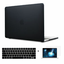 """Black Hard Case Shell Keyboard Cover LCD Film Macbook Pro 13/15"""" Air 11/13""""-inch"""