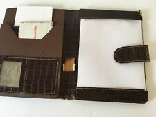 Rare Vintage Mid Century leather travel writing stationary case folio folder
