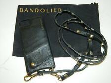 Bandolier Sarah Black Pebble Leather Crossbody w/Gold Hardware  iphone 6, Used