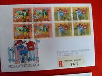 KIDS BOOKS CHARACTER B 1984 SWITZERLAND  STAMPS  PRO JUVENTUTE REGISTERED PIPPI