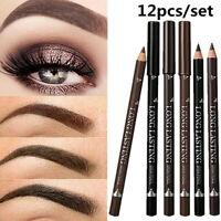12PCS Waterproof Eye Brow Eyeliner Eyebrow Pen Pencil Makeup Cosmetic Tool US