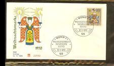[PB6_303] 1970 - Deutschland FDC Mi. 655 (1) - Weihnachten 1970