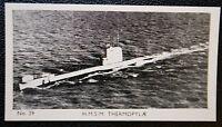 HMS Thermopylae    Royal Navy Submarine    Vintage Photo Card  VGC