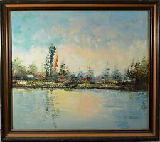 Beautiful Original Mid Century Oil Painting Possibly by Bruno Cavallo, EXCELLENT