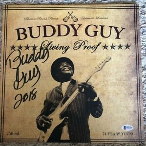 Buddy Guy Living Proof LP Hand Signed 2018 Vinyl Beckett Authentic