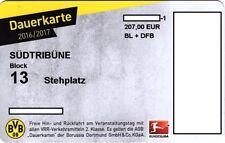 Dauerkarte BVB Borussia Dortmund Saison 2016/2017 für Sammler