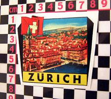 Zurich Holiday Sticker for Classic BMW 2002 1602 Audi Puch NSU Prinz Isetta