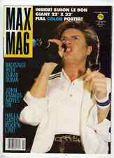 Duran Duran - Simon Le Bon Max Mag Magazine From 1984 (Fold Out Poster Style)