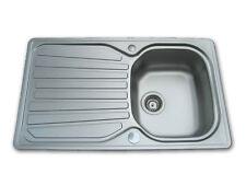 EURODOMO Einbauspüle Küchenspüle SOLARIS 45 Edelstahl glatt