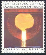 MEXICO 1976 in acciaio/metallo/industria/Iron/Minerali/FONDERIA/commerce 1v (n27277)