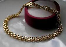 GENUINE 9ct gold bracelet gf  LOW STOCK!  21