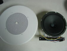 "2X ATLAS SOUNDOLIER ROUND WHITE IN-WALL 8"" SPEAKERS 70V EZHV1-7"