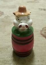 RARE VINTAGE REGAL CHINA OLD MCDONALDS FARM PIG GREASE JAR CANISTER 386