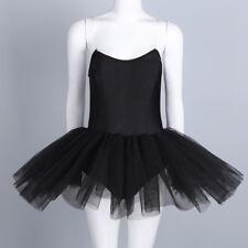 Women's Strapless Ballet Dance Dress Tulle Tutu Skirt Classic Swan Costume