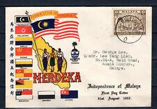 MALAYA 31/08/1957 MALAYSIA MERDEKA INDEPENDENCE FDC FIRST DAY COVER