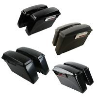 Hard Saddlebag Saddle bags Fit For Harley Touring Road King Street Glide 94-13