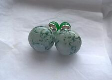 Christian Dior Mise En Dior Tribal Green Marble Earrings