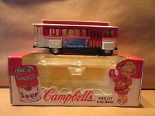 ERTL Campbells Soup Trolley Car Bank 1/43 Scale Die Cast