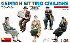 MiniArt German Sitting Civilians 30s-40s Zivilisten 1:35 Bausatz Kit 38006