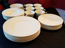 """� Wedgwood """" Patrician """" Dinnerware Set - Serving for Six - 30 Plus Pieces"""