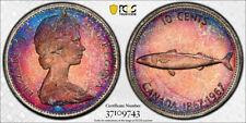 1967 Ten Cents 10¢ PCGS PL-66 - Amazing Pink & Bluish tones