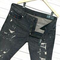 ⭐ Mens Diesel Thavar-XP stretch Slim-skinny denim jeans wash RFE02 size W31 L30