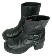 "Harley Davidson Pavement Harness 7"" Black Biker Boot 81026 Women's Size 6 EUR 37"