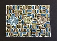 """ACEO Original Painting, Aboriginal Art Collection """"Summer Dreams"""" signed, titled"""