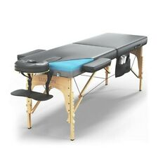 Home Premium Memory Foam Massage Table - Easy Set Up - Foldable & Portable with