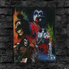 HD Print Oil Painting Decor Art On Canvas Gene Simmons Kiss 24x32inch Unframed