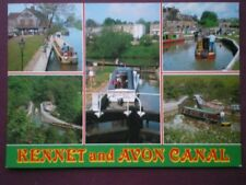 POSTCARD BERKSHIRE KENNET AND AVON CANAL - MULTI VIEW