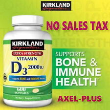 Kirkland Signature Vitamin D3 2000 IU, 600 Softgels