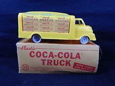 VINTAGE 1950's MARX COCA-COLA PLASTIC DELIVERY TRUCK W/ CASES & BOX