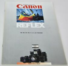 CANON T Series F-1 A-1 + AE-1 Program System Guide