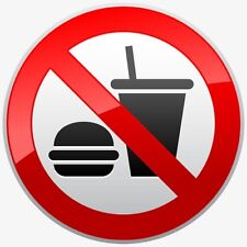 NO EATING STICKER or  Magnet, Approx; 9cm x 9cm,  Laptop, Bands, Free Aus Post