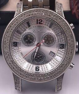 Joe Rodeo Mens JOJO 2000 44mm SS w/1.50CT Diamond Watch w/2 Extra Straps - J2030