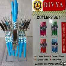 DIVYA PREMIUM STAINLESS STEEL 25 PCS CUTLERY SET WITH STAND. SPOONS & FORKS