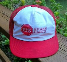 Vtg Snapback Baseball Hat Cap EIS Brake Parts Mesh Hipster Trucker Painter USA