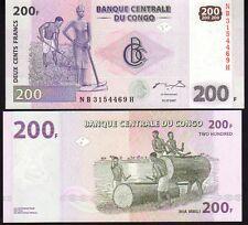 Congo, D.R. 200 Francs 2007 P99 Mint Unc