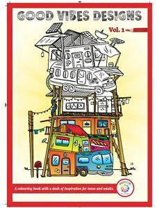 Good Vibes Coloring Book of Feel-Good Doodles Inspire Hope Self Belief Self Love