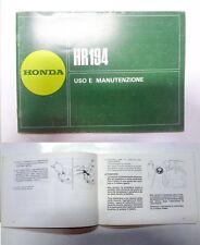 Manuale manual libretto uso manutenzione rasaerba lawnmower HONDA HR 194