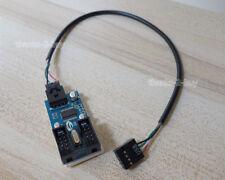 9 Pin USB Header Male 1 to 2 Female Extender Cable 9P USB2.0 Port Multiplier HUB