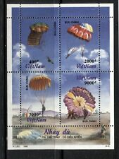 VIETNAM 1995, AVIATION: PARACHUTES, Scott 2629 SHEET OF 4 DIFFERENT, MNH