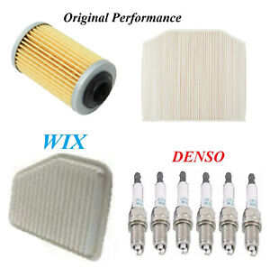 Tune Up Kit Air Cabin Oil Filters Spark Plugs For PONTIAC G8 V6; 3.6L 2008-2009