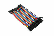 40 Female to Female Jumper Wires Solderless 10cm Ribbon Arduino Flux Workshop