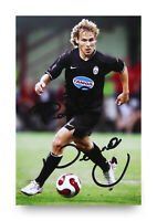 Pavel Nedved Hand Signed 6x4 Photo Juventus Genuine Autograph Memorabilia + COA
