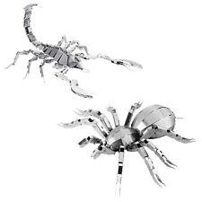 NEW (Set) Metal Earth Steel Sheet Arachnid 3D Laser Cut Kit Scorpion & Tarantula