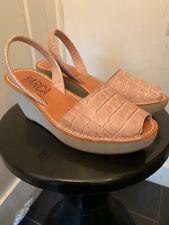 VARCA Menorcan Mock Croc Design Wedge Sandals Size 38/UK 5