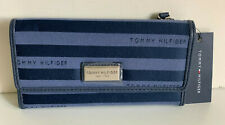 NEW! TOMMY HILFIGER BLUE CHECKBOOK CLUTCH PURSE WALLET SALE