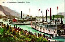Postcard Excursion Boats On Columbia River Oregon